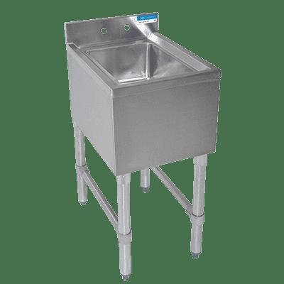 BK Resources BKUBS-1014HS-18-P-GS Underbar Dump Sink, 14-1/2″W x…