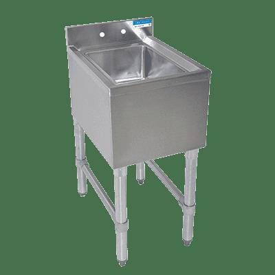 BK Resources BKUBS-1014HS12-18S Underbar Dump Sink, 12″W x 18″…