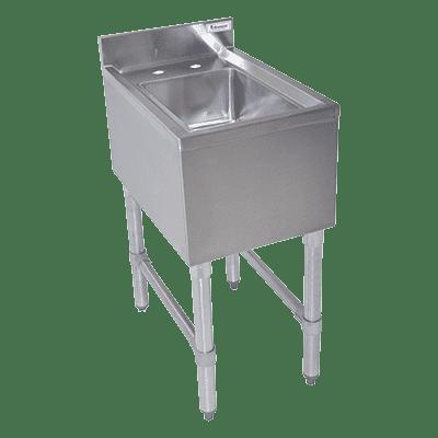 BK Resources BKUBS-1014HS12-P-GS Underbar Dump Sink, 12″W x 21-…