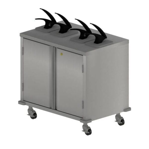 BK Resources CC-DP-364 Condiment Cart