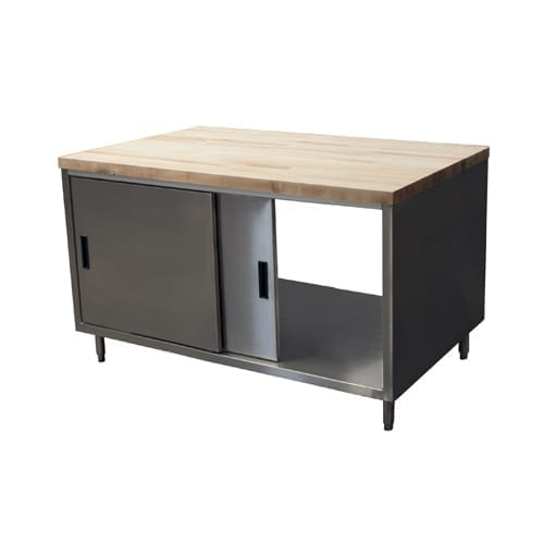 BK Resources CMT-3048S2 Dual Access Chef Table