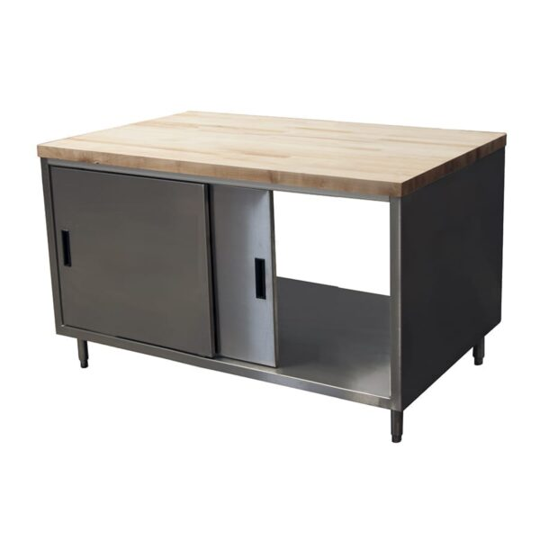 BK Resources CMT-3648S2 Dual Access Chef Table