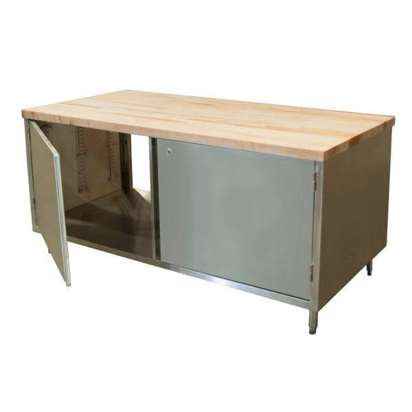 BK Resources CMT-3672HL2 Dual Access Chef Table
