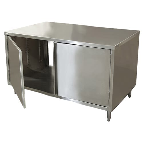 BK Resources CST-2418H2 Dual Access Chef Table, cabine…