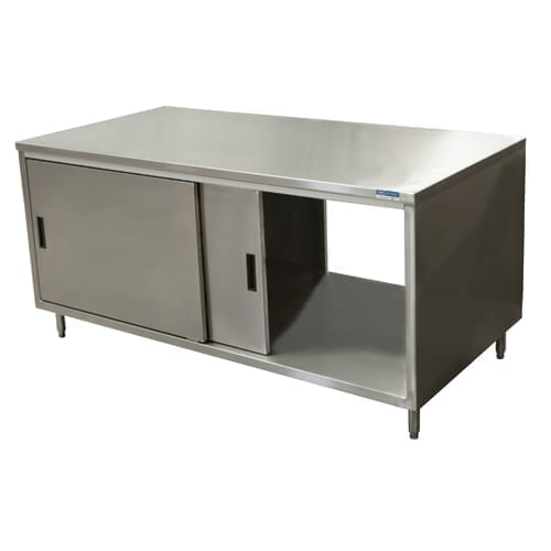 BK Resources CST-2472S2 Dual Access Chef Table