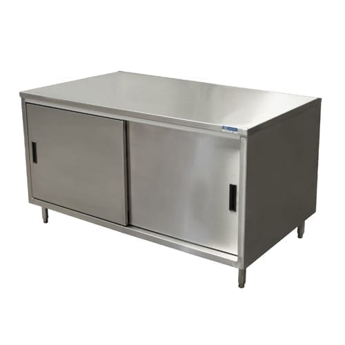 BK Resources CST-3036S2 Dual Access Chef Table, cabine…