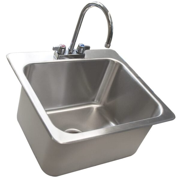 BK Resources DDI-20161224-P-G Deep Drawn Drop-In Sink