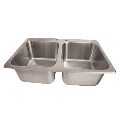BK Resources DDI2-14161024-P-G Drop-In Sink, two compartment