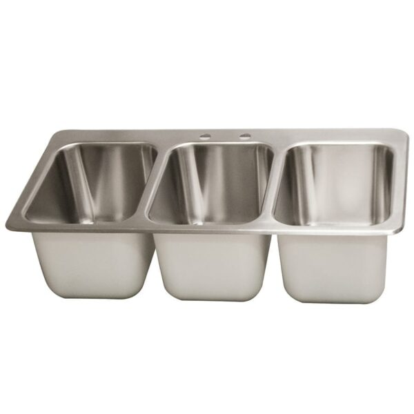 BK Resources DDI3-10141024-P-G Drop-In Sink, three 3 compartment