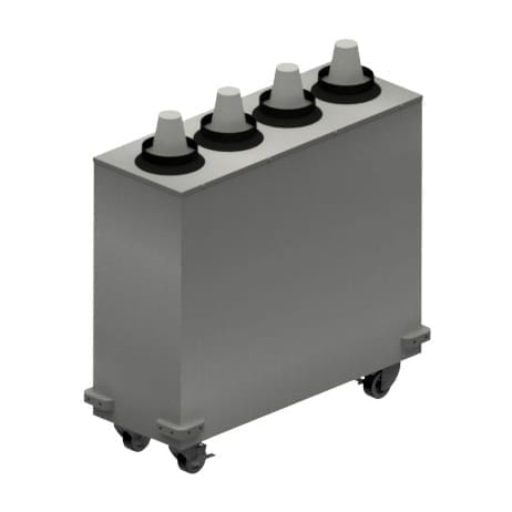 BK Resources MCD-4X1 Mobile Cup Dispenser