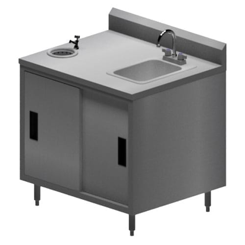 BK Resources MOD-IC Work Table/Ice Cream Cabinet