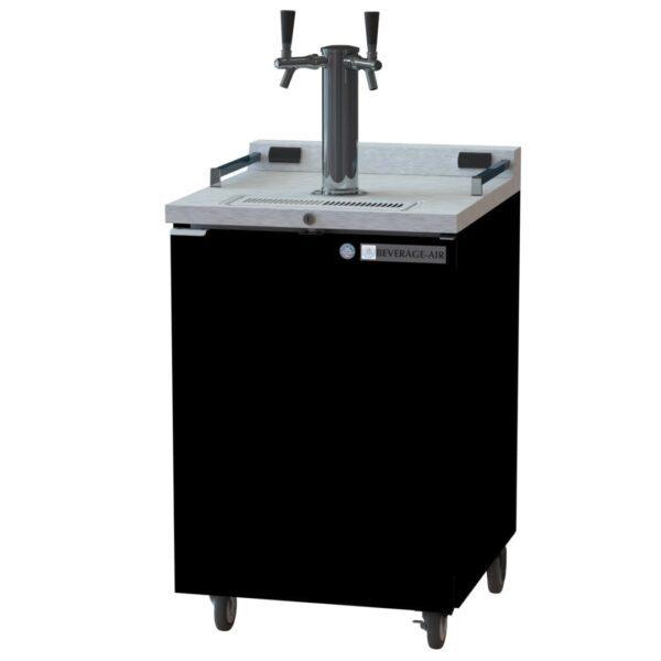 Beverage Air DZ24-1-B Double Tap Dual Zone Kegerator Beer Dispenser (Draft Beer Cooler)