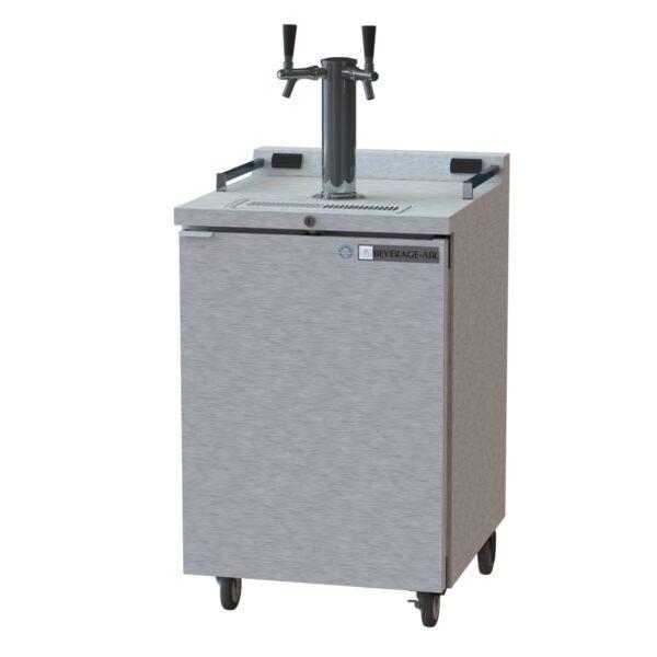 Beverage Air DZ24-1-S Double Tap Dual Zone Kegerator Beer Dispenser (Draft Beer Cooler)
