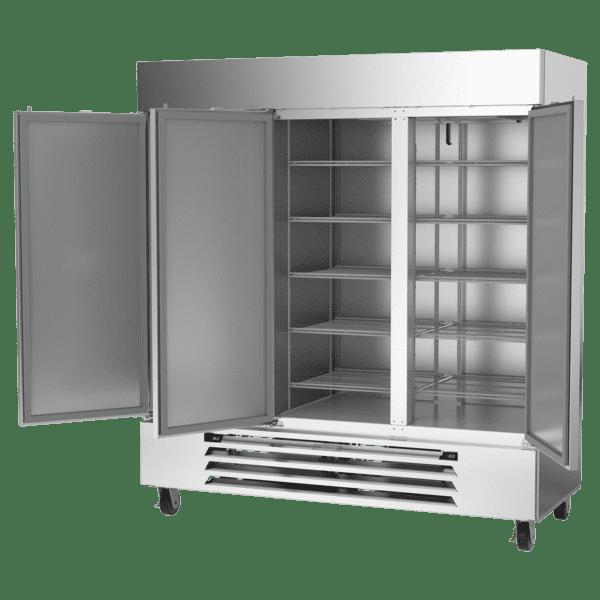Beverage Air HBRF72HC-1-B Hydrocarbon Series Three (3) Section Dual Temperature Reach-in Refrigerator / Freezer