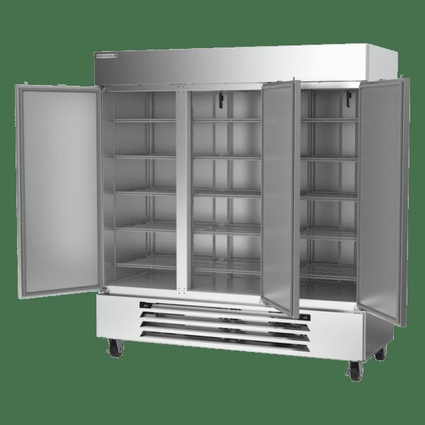 Beverage Air HBRF72HC-1-C Horizon Series Three (3) Section Dual Temperature Reach-in Refrigerator / Freezer