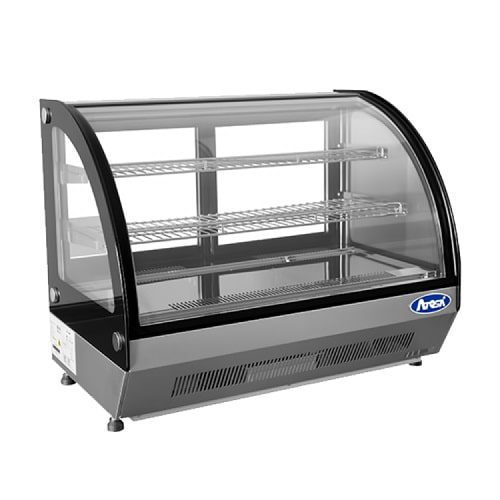 Atosa USA, Inc. CRDC-35 27.6″ Refrigerated Countertop Display Curved Glass Case