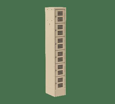 Choice Equipment EL-6-12-1-P-T Employee Locker, 6-tier, singl…