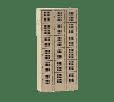 Choice Equipment EL-6-12-3-P-T Employee Locker, 6-tier, (3) c…
