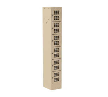 Choice Equipment EL-6-15-1-P-T Employee Locker, 6-tier, singl…