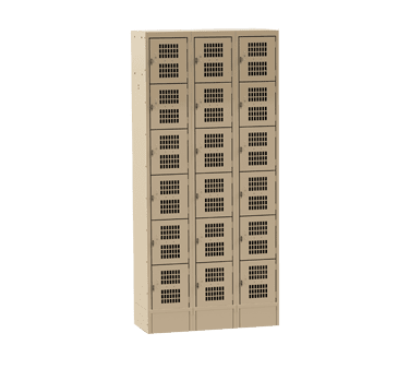 Choice Equipment EL-6-18-3-P-T Employee Locker, 6-tier, (3) c…