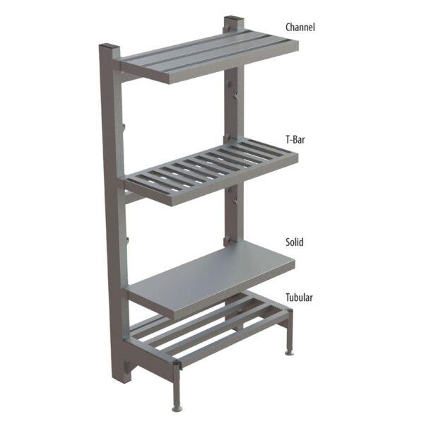 Choice Equipment SU65-3024-T Cantilever Shelf, tubular, 30″…
