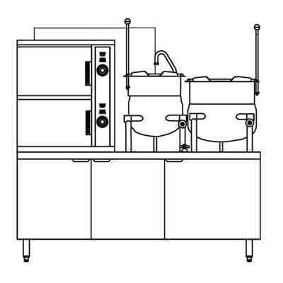 Steamer Kettle Combination, Gas