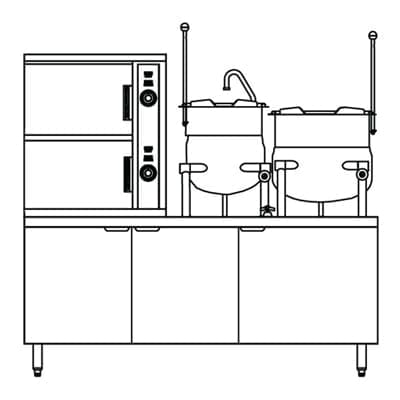 Steamer Kettle Combination, Steam Coil