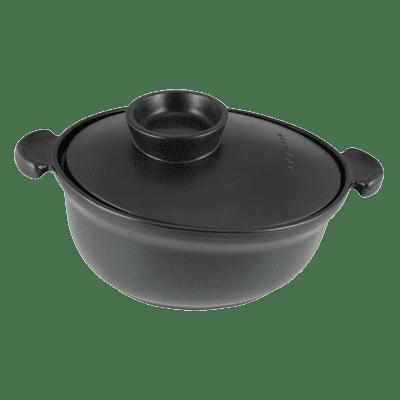 Eurodib USA 500040001 Casserole, with lid, black, ce…