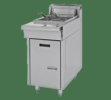 Garland/US Range C836-1-35F Natural Gas / Liquid Propane 35 lb. Cuisine Series Range Match Floor Fryer – 110,000 BTU