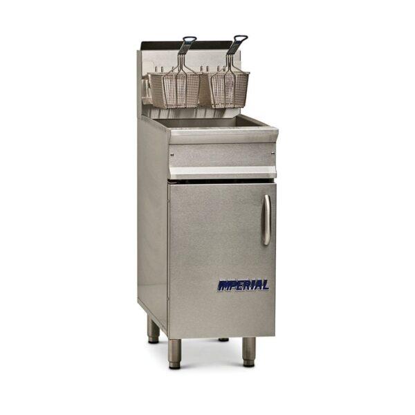 Imperial IRF-40-OP Full Pot Floor Model Gas Fryer