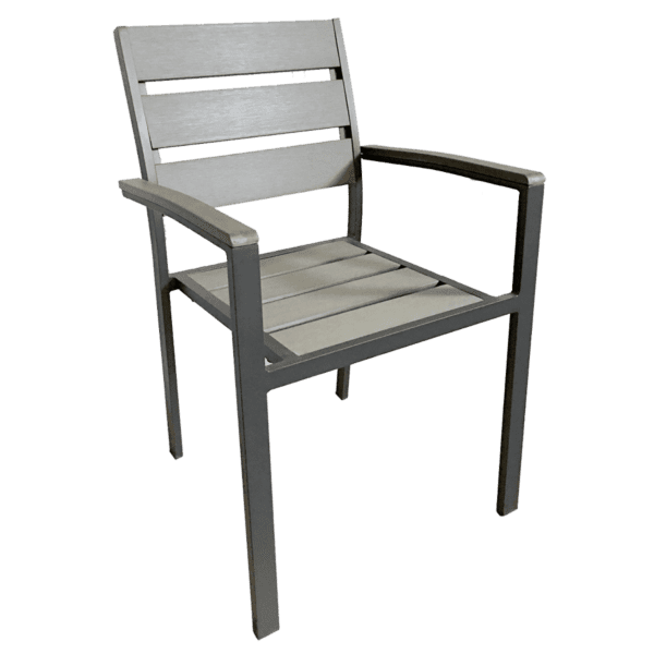 Chair, Armchair, Stacking, Outdoor