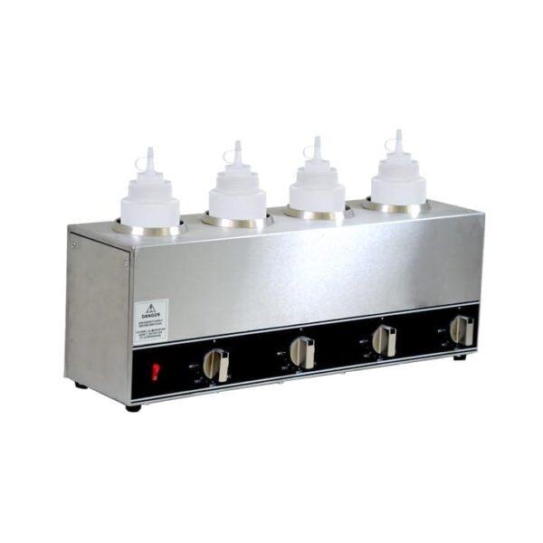 Omcan USA 44180 (FW-CN-1604) Quadruple Bottle Sauce Warmer