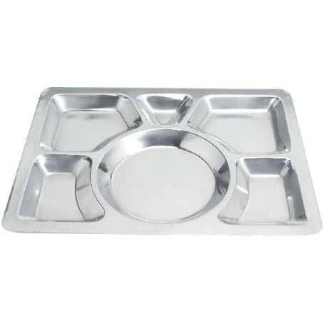 Omcan USA 80776 6-Compartment Stainless Steel Mess Tray