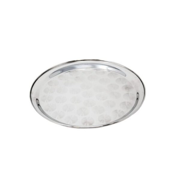 Omcan USA 80811 12-inch Stainless Steel Round Serving Tray