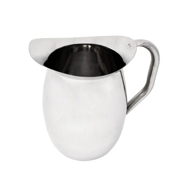 Omcan USA 80858 Bell Pitcher, 2 quart, stainle…