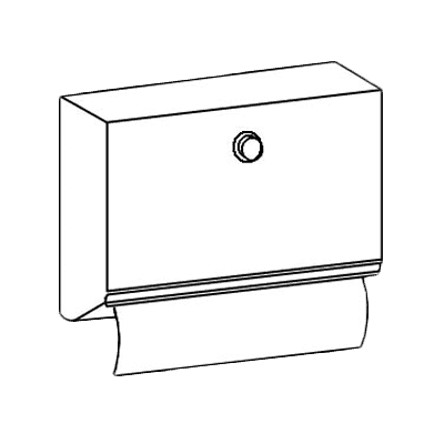 Perlick Corporation 7055-270R Paper Towel Dispenser (field i…