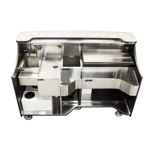 Perlick Corporation MOBS-66TE-S Signature Series Mobile Bar, w…