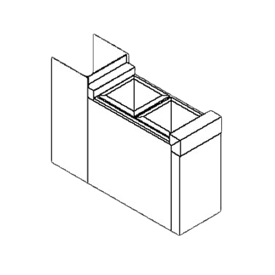 Perlick Corporation TS6CO2 TS Series Filler Section, 6″, …