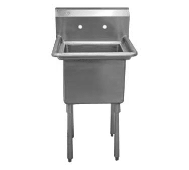 Serv-Ware 1CWPH1824 One (1) Compartment Heavy Duty Series Sink