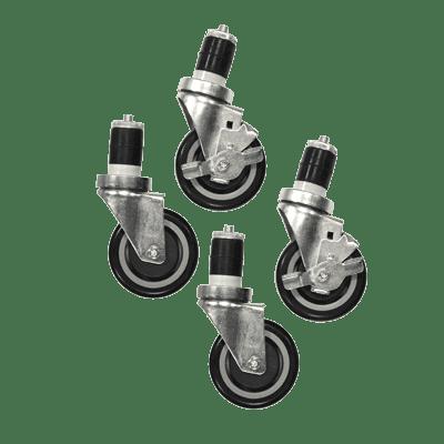 Serv-Ware 4B-0050-4S Casters, 4″ wheels, swivel, (s…