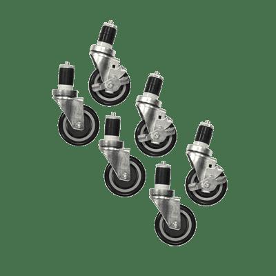 Serv-Ware 4B-0050-6S Casters, 4″ wheels, swivel, (s…