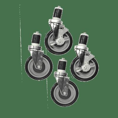 Serv-Ware 5B-0050-4S Casters, 5″ wheels, swivel, (s…