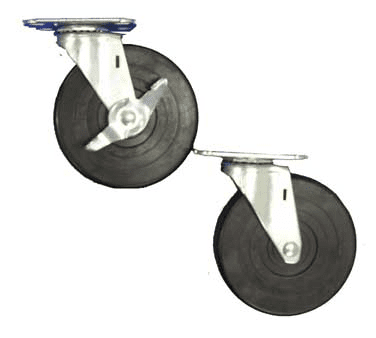 Serv-Ware 5C-0017-B Plate Caster, 5″ wheel, 2-1/2″…