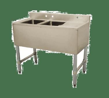 Serv-Ware BAR2B48-LR-CWP Two (2) Compartment Underbar Sink
