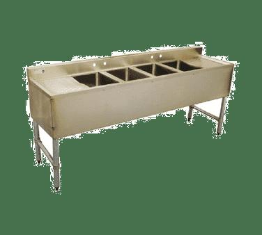 Serv-Ware BAR4B72-LR-CWP Four (4) Compartment Underbar Sink