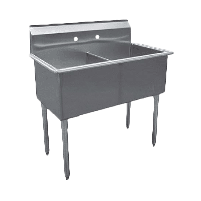 Serv-Ware BS2-2424 Two (2) Compartment Budget Series Sink