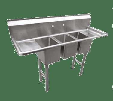 Serv-Ware CS3CWP2012212 Three (3) Compartment Deli/Convenient Store Sink