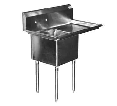 Serv-Ware D1CWP1620R-18 One (1) Compartment Economy Series Sink