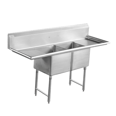 Serv-Ware D2CWP1620 Two (2) Compartment Economy Series Sink
