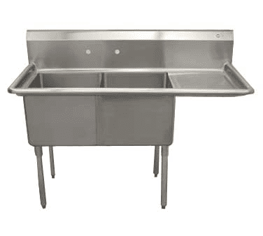 Serv-Ware D2CWP1620R-18 Two (2) Compartment Economy Series Sink